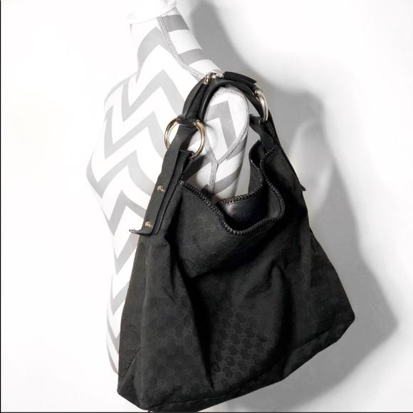 557b997b567 Gucci Handbags - Sale Gucci Black GG Canvas Large Horsebit Hobo Bag